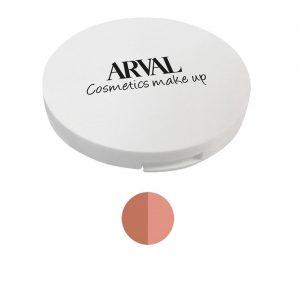 Arval Fard Compatto Duo n. 02 corallo e beige rosato